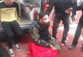 درگیری تماشاگران و نیروی انتظامی پس از بازی تراکتورسازی و پیکان
