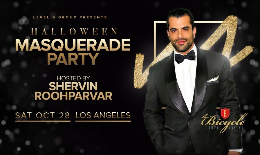 Halloween Masquerade Party at the Luxurious Hotel in Los Angeles