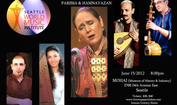 The Hamnavazan Ensemble and Parissa Concert in Seattle
