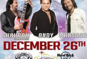 کنسرت اندی، شهرام شب پره و منصور - کریسمس ۲۰۱۴ در لاس وگاس