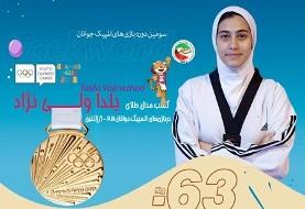 دختر جوان تکواندوکار ایرانی نخستین طلای کاروان ایران را در المپیک جوانان ۲۰۱۸ آرژانتین کسب کرد