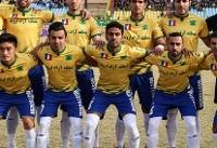 دیدار تیم های فوتبال صنعت نفت آبادان و صبای قم