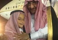 ولیعهد برکنارشده سعودی در انظار عمومی ظاهر شد+ عکس