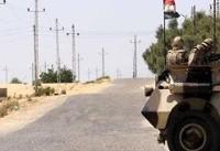 کشته شدن ۵ نیروی نظامی مصر و ۳۵ تروریست در شمال سیناء