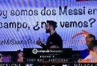 (عکس) بدل ایرانی لیونل مسی در ورزشگاه نیوکمپ