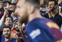 تصویری جالب از مسی و بدلش در یک قاب