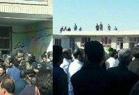 پایان تجمع اهالی مقابل مدرسه محله اسلام آباد ارومیه با تاکید مسئولین برای پیگیری حادثه