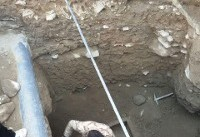 کشف تابوت سنگی مربوط به دوره اشکانیان در همدان