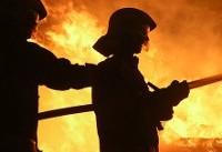 مهار آتش در زیرزمین مشترک دو ساختمان مجاور هم