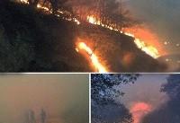 آتشسوزی گسترده در حاشیه پارک ملی گلستان / تا بالگرد نرسد؛ آتش مهار نمیشود/ عکس