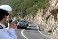 ریزش سنگ و ترافیک سنگین در جاده هراز