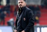 خوشحالی گتوزو از پیروزی میلان