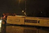 تصادف اتوبوس راهیان نور دانش آموزان دختر