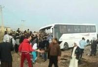 ۸ کشته در تصادف اتوبوس راهیان نور دانش آموزان دختر (+عکس)
