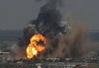 حمله جنگندههای رژیم صهیونیستی به جنوب نوار غزه/۳ نفر مجروح شدند