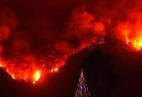 Firefighters wrestle to control massive California wildfire