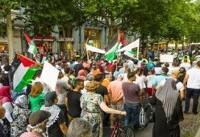 تظاهرات گسترده در برلین برای حمایت از فلسطین