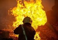 آتشسوزی در خیابان امین حضور تهران