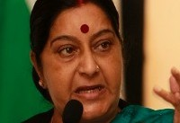 Swaraj makes stopover at Tehran on return from Russia