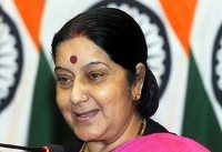 Eye on strategic Chabahar port, Sushma makes stopover at Iran
