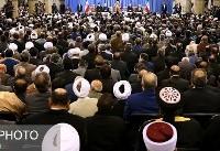دیدار مسئولان نظام و میهمانان کنفرانس وحدت اسلامی با مقام معظم رهبری