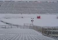 بارش برف دوبازی لیگ برتر را لغو کرد