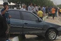 خسارت شدید سونامی در بندر دیر استان بوشهر