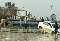 طغیان آب دریا در شهرستان دیر | ۲۰۰ قایق خسارت دیدند و ۵ نفر ناپدید شدند