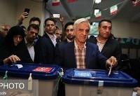 (تصاویر) هاشمیطبا در صف رایگیری