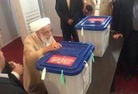 احمد جنتی رای خود را به صندوق انداخت+تصویر
