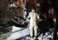 نجات ۱۰ شهروند از آتش سوزی ساختمان مسکونی  در خیابان ری