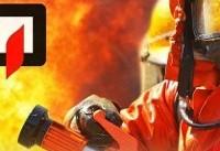 حریق گسترده ۲ انبار در میدان بهارستان
