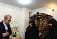 دیدار لاریجانی با خانواده شهید حمله تروریستی مجلس