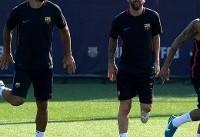بازگشت مسی به تمرینات بارسلونا با تیپ جدید + تصاویر