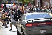 ورود خودرو به صف تظاهرکنندگان آمریکایی یک کشته داشت+ویدئو+تصاویر