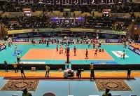 (تصاویر) حضور بانوان در مسابقه والیبال ایران و قطر