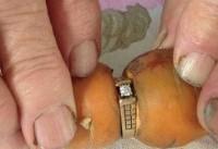 حلقه ازدواجی که به جای انگشت عروس، دور یک هویج قرار گرفت!
