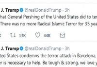 توییت جنجالی ترامپ در واکنش به حادثه بارسلون