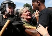 تشدید تنش بین نژادپرستان و مخالفان در آمریکا