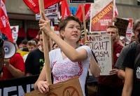 تظاهرات نژادپستان و مخالفانشان در آمریکا و کانادا(+عکس)