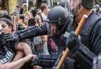 تظاهرات مردم شهر بوستون آمریکا در اعتراض به گردهمایی حامیان نژادپرستی