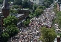 تظاهرات دهها هزار نفر در بوستون علیه نژادپرستی