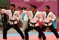 پنجمین مدال برنز یونیورسیاد برای ایران/  تیم پومسه پسران روی سکو رفت