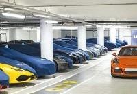 مخفیگاه خودروهای میلیاردی+عکس