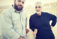 خبرنگار اعزامی شبکه خبر به تدمر سوریه و حاج قاسم+عکس