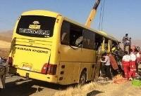 ۱ کشته و ۱۸ مصدوم در حادثه تصادف اتوبوس و کامیون + اسامی مصدومان