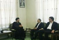 دیدار شهردار و اعضای شورای شهر تهران با حسن خمینی
