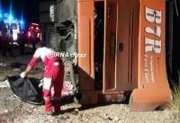 علت واژگونی اتوبوس دانش آموزان هرمزگانی