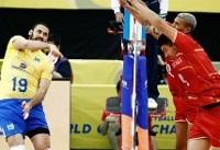 والاس دسوزا امتیاز آورترین بازیکن دیدار والیبال ایران با برزیل