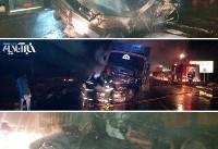 ۴ کشته در تصادف ۴۰۵ با تریلی در جاده تبریز-زنجان (+عکس)